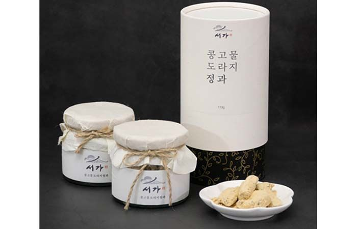 "<font color=#C72700>울타리몰 $100이상 무료배송</font> 경주특산물 서가 ""콩고물"" 도라지정과 110g *4통"