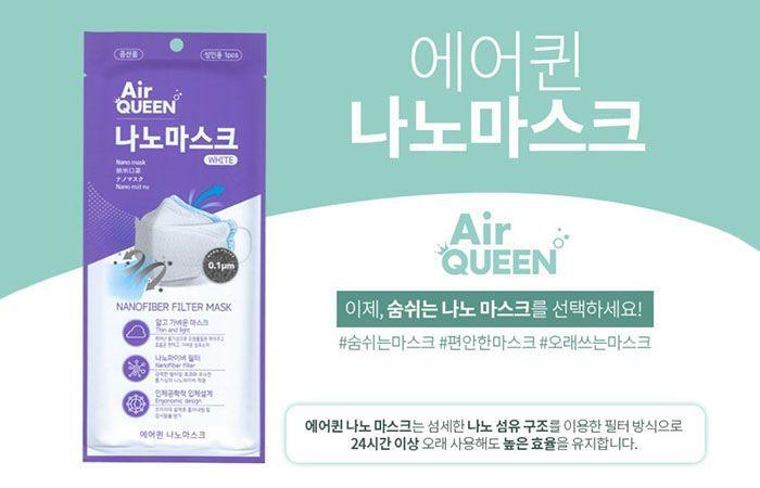 <font color=#C72700>$35.00</font> FDA 인증  Air Queen 나노마스크(10매)