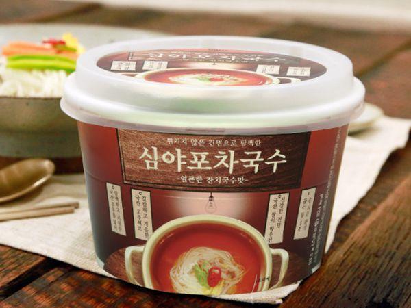 튀기지않은 건면 심야포차국수 1박스 (12개 ) 얼큰한 맛