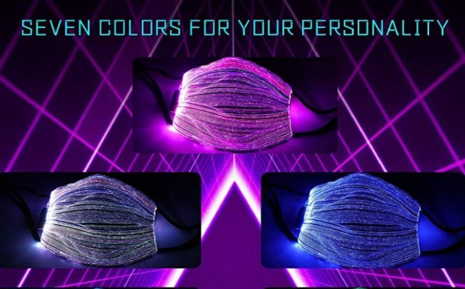 <font color=#C72700>할로윈특가</font> 필터내장 7가지 색상변경 LED 마스크 2개